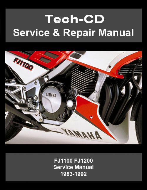 yamaha fj1100 fj1200 service repair manual 1983 1992. Black Bedroom Furniture Sets. Home Design Ideas