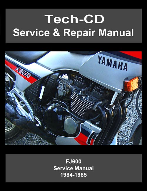yamaha fj600 service repair manual fj 600 1984 1985 ebay. Black Bedroom Furniture Sets. Home Design Ideas