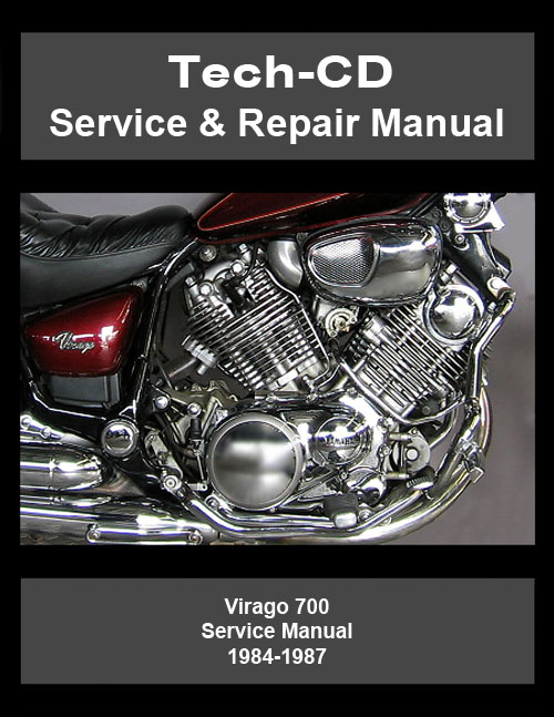 Yamaha Virago 700 Service  U0026 Repair Manual Xv700 Xv 1984 1985 1986 1987